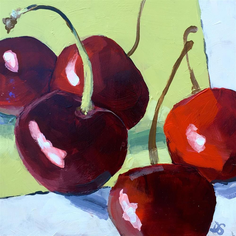 """""""Cherries"""" original fine art by Diana Stewart"""