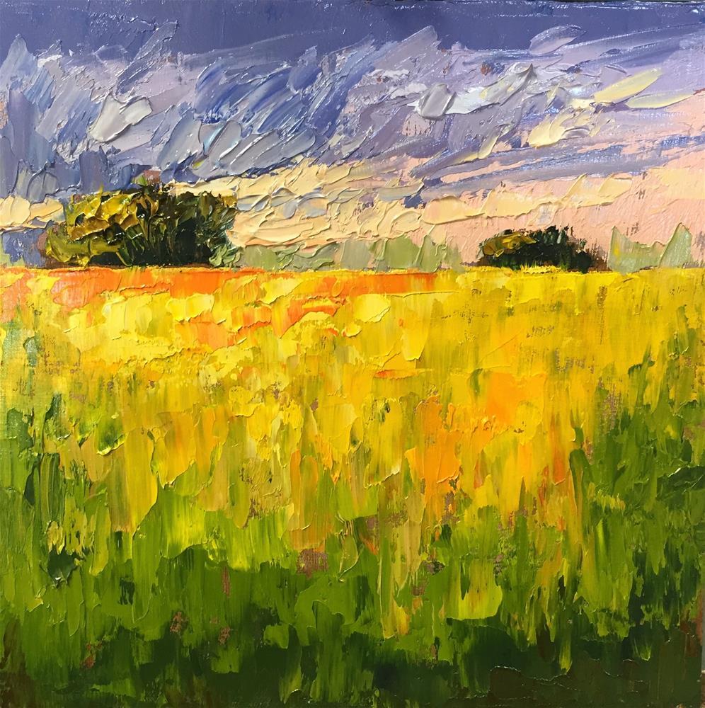 """Blooming Mustard"" original fine art by Sherri Cassell"