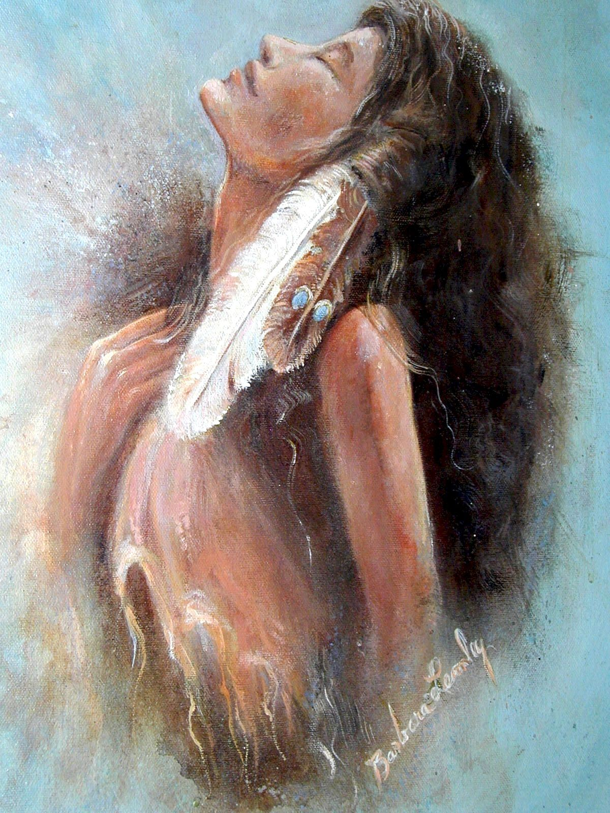 """Indian Princess"" original fine art by Barbara Lemley"
