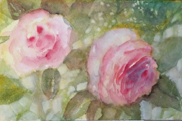 """Sunshine and Roses"" original fine art by Wendy Starita"