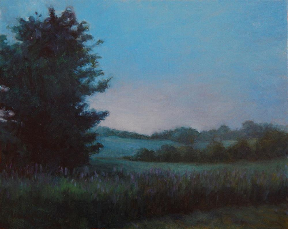 """Blue Morning"" original fine art by Lisa Kyle"
