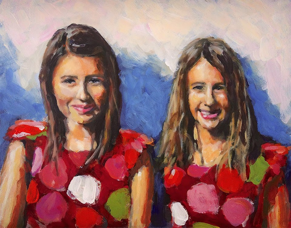 """Those Young Ladies"" original fine art by J. Farnsworth"