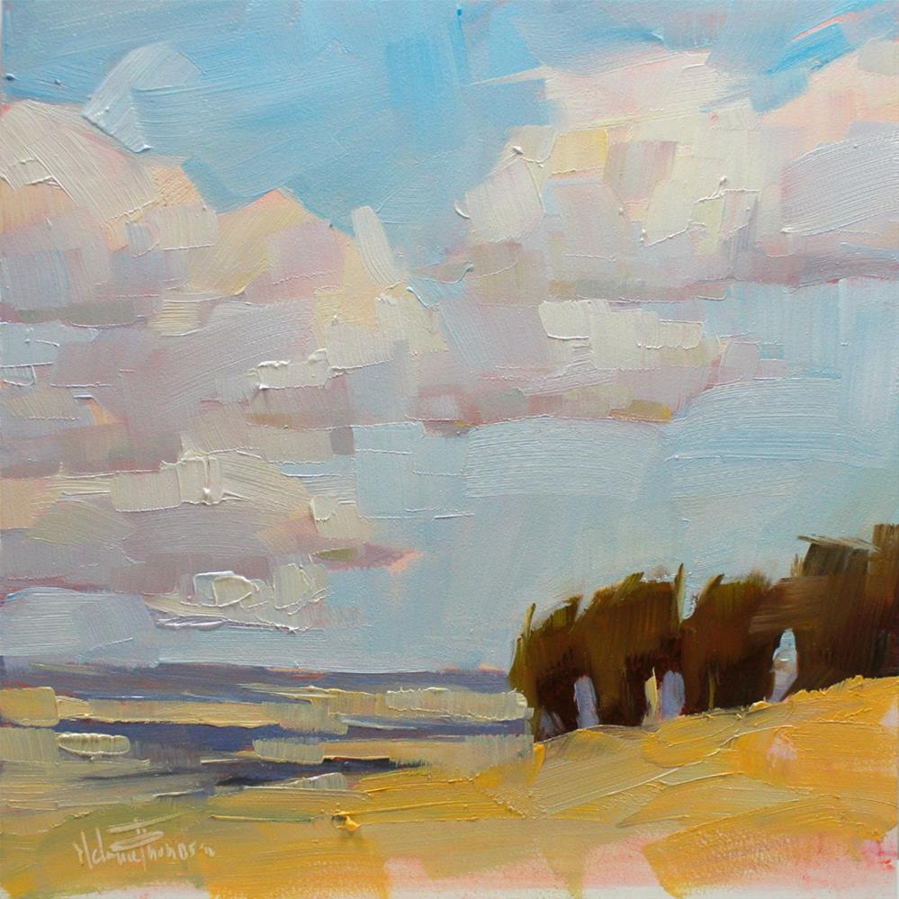 """Windswept Farmland"" original fine art by Melanie Thompson"
