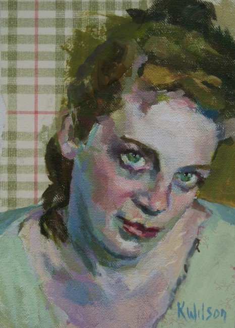 """Pale Green Shirt"" original fine art by Katie Wilson"