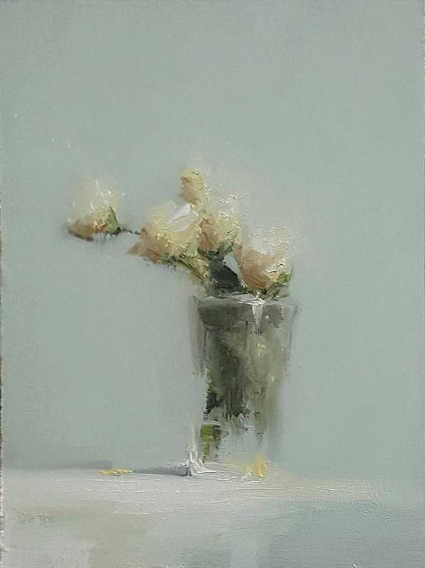 """Glass of Roses"" original fine art by Neil Carroll"
