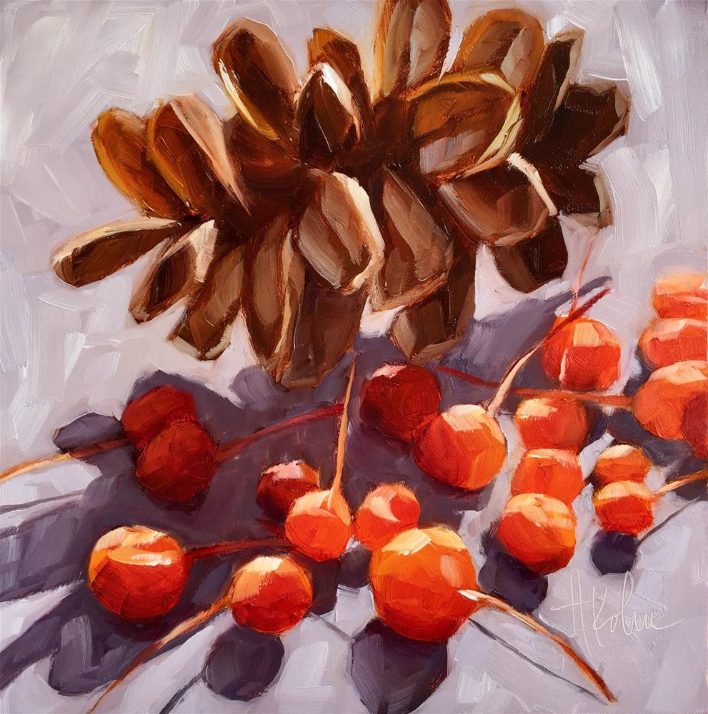 """Tree Gifts"" original fine art by Hallie Kohn"