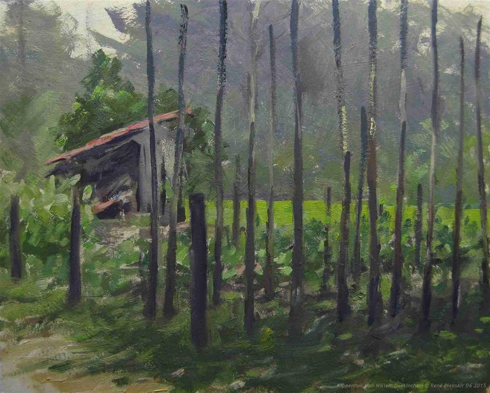 """Willems Kippenhok Doetinchem, The Netherlands"" original fine art by René PleinAir"