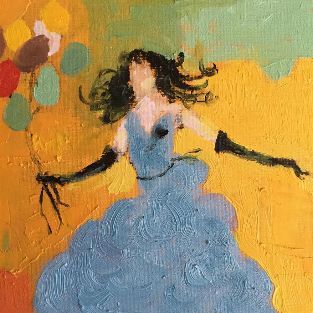 """Christies birthday"" original fine art by pamela kish"