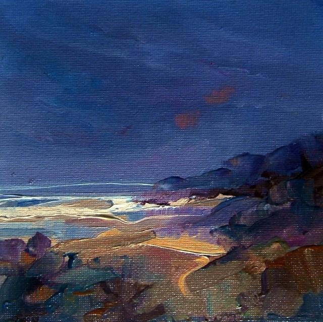 """Rugged Shore"" original fine art by Anne Wood"