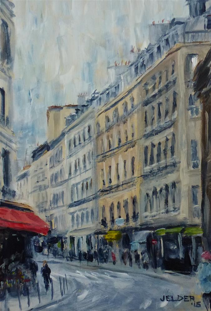 """Paris No. 85"" original fine art by Judith Elder"