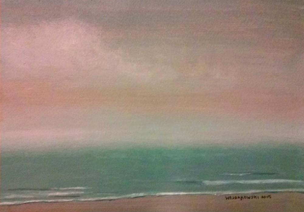 """Coastal study #18"" original fine art by Joe Wojdakowski"