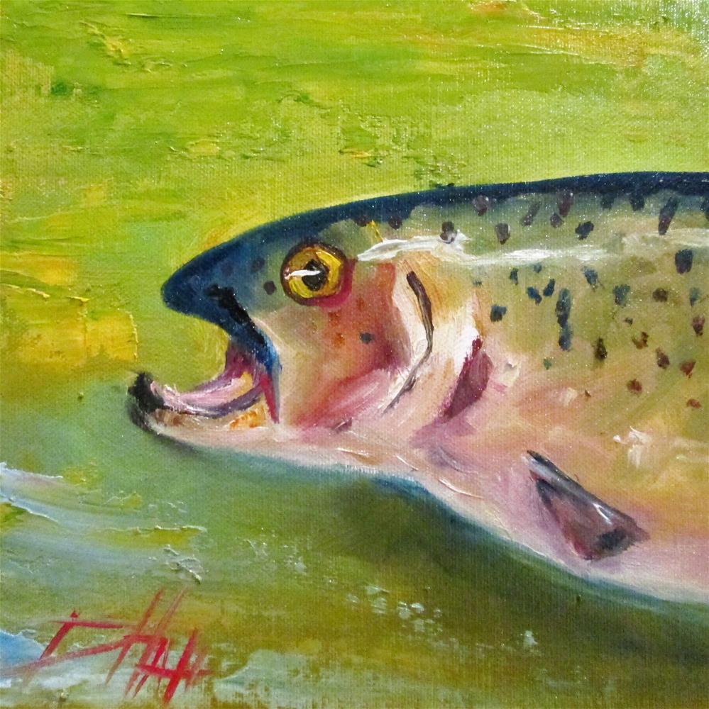 """Trout"" original fine art by Delilah Smith"
