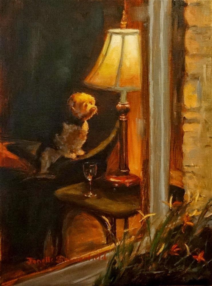 """""""Looking Out the Window"""" original fine art by Jonelle Summerfield"""