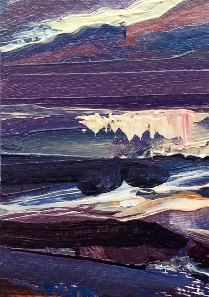 """""""Norfolk Sunset"""" original fine art by Anne Wood"""