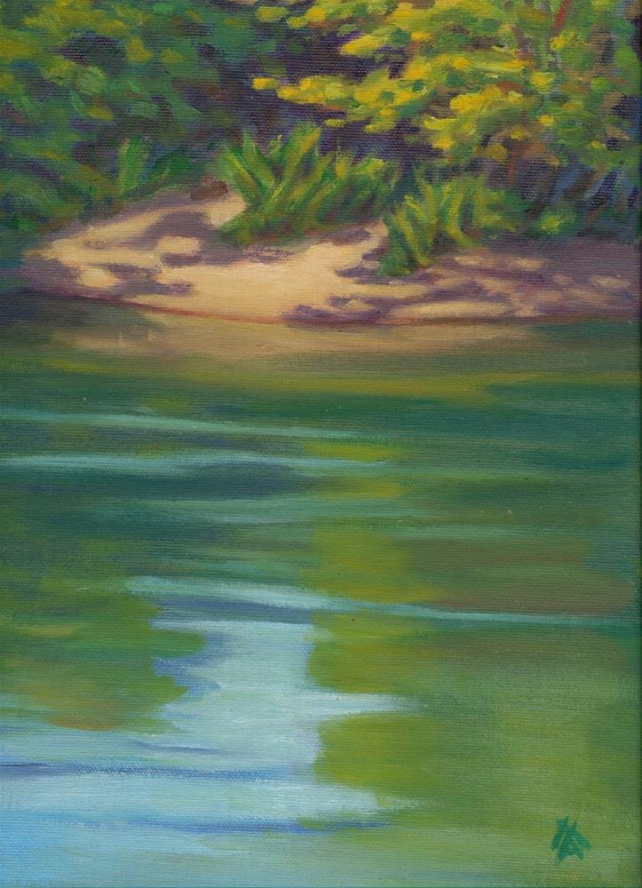 """Mary's River"" original fine art by Mark Allison"
