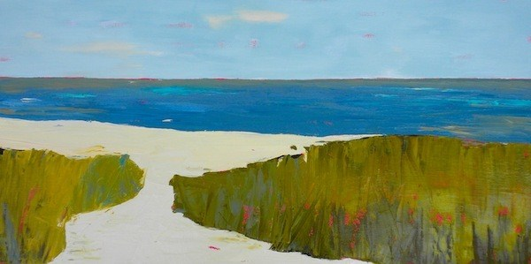 """Land And Sea"" original fine art by Janet Bludau"