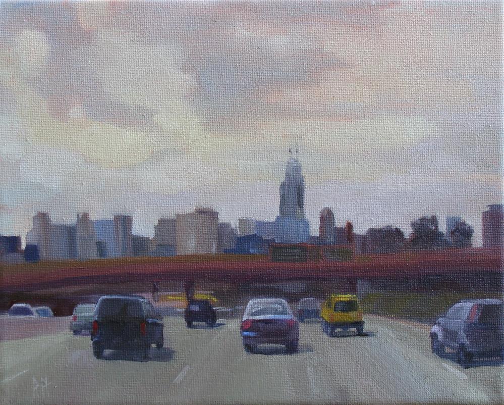 """Not Quite Rush Hour"" original fine art by Rebecca Helton"