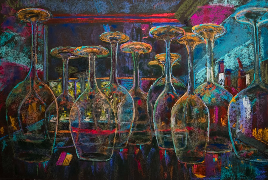 """8 2 the Bar"" original fine art by karen israel"