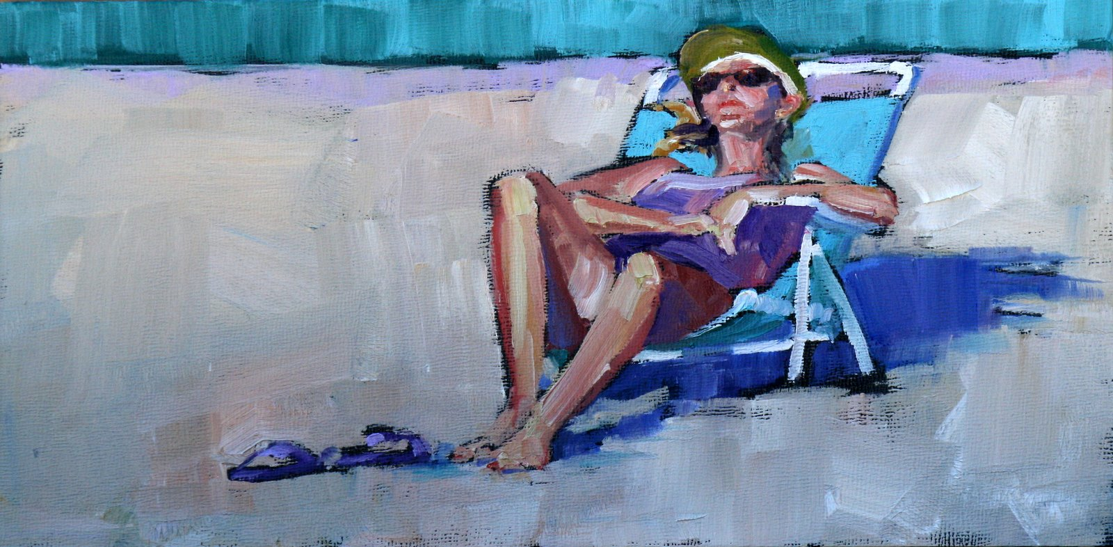 """down time"" original fine art by Carol Carmichael"