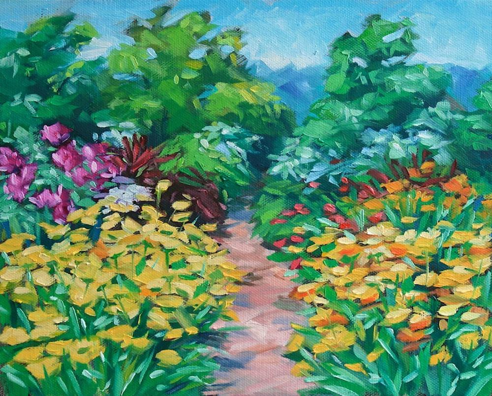 """At The Farm"" original fine art by Mary Anne Cary"