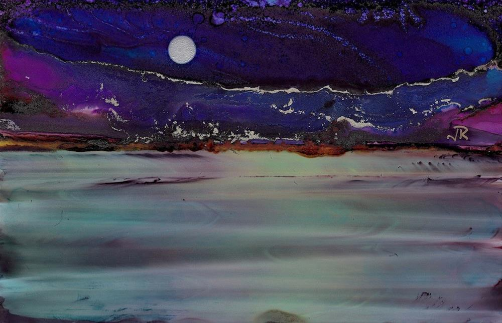 """Dreamscape No. 396"" original fine art by June Rollins"