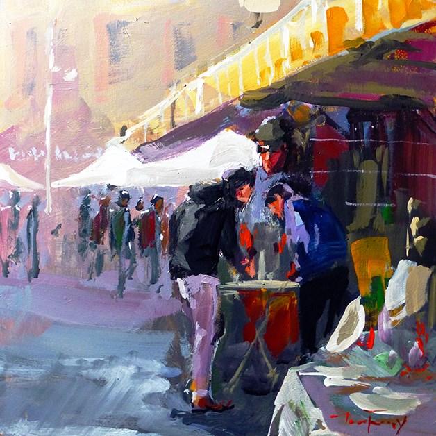 """""""Flohmarkt"""" original fine art by Jurij Frey"""