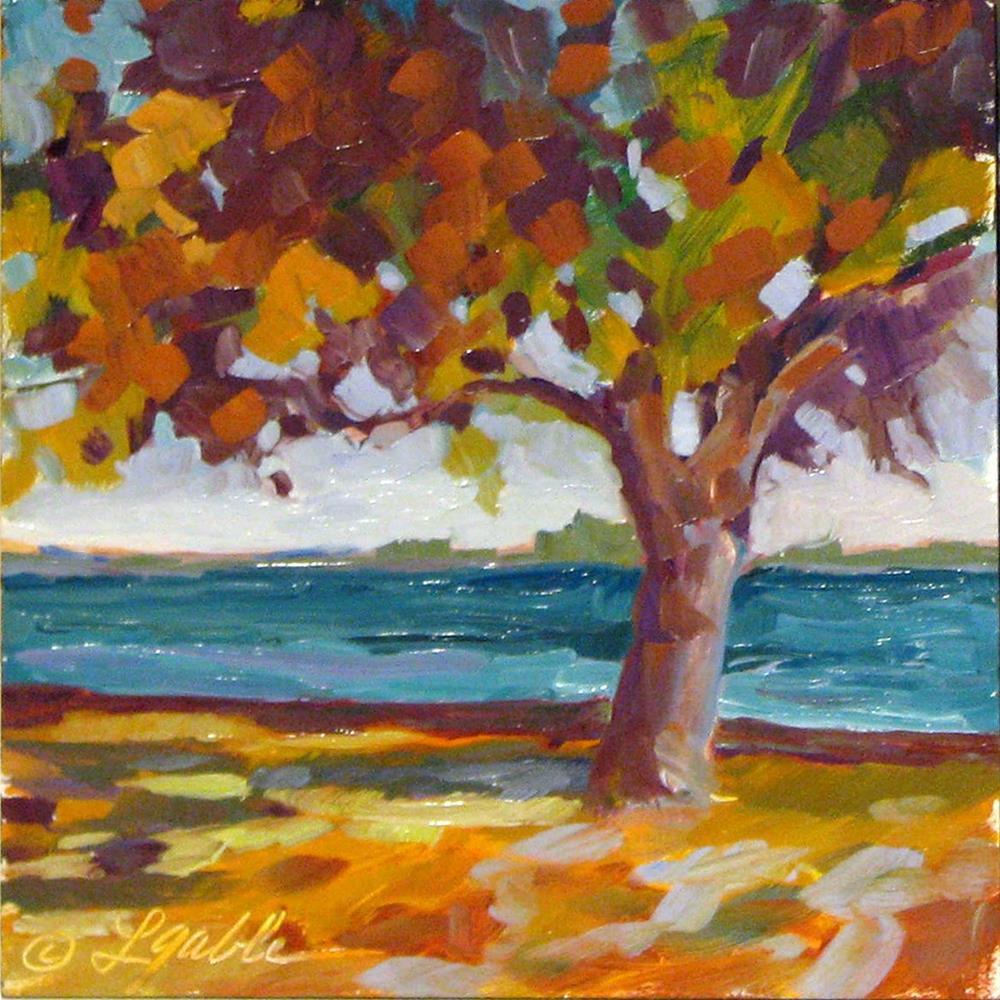 """""""Autumn's Paintbrush"""" original fine art by Laura Gable"""