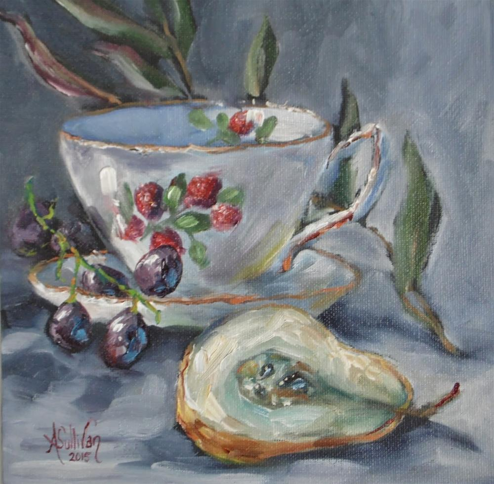 """Breakfast Goodies still life painting by Alabama Artist Angela Sullivan"" original fine art by Angela Sullivan"