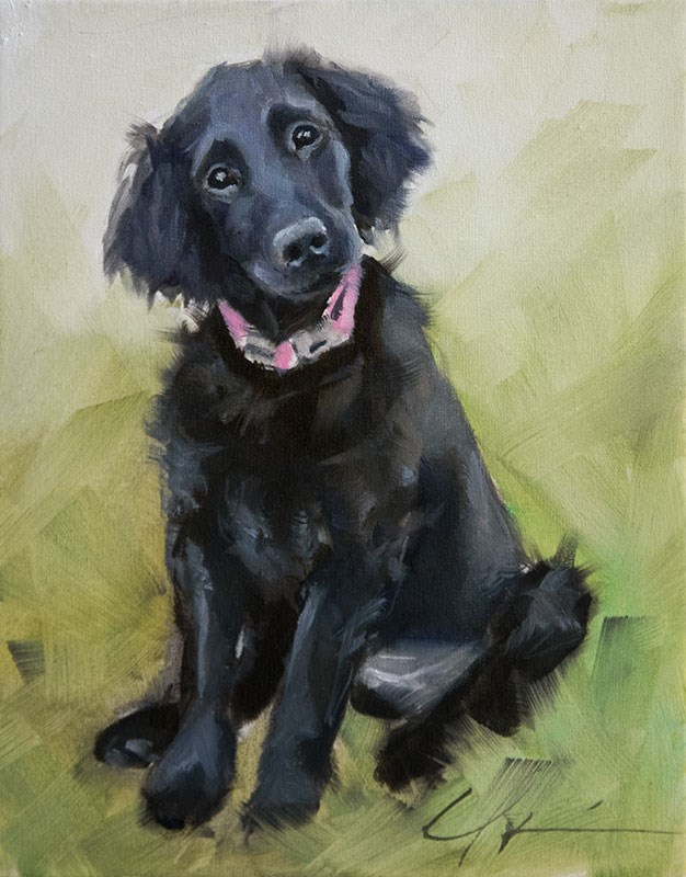 """PAINT MY DOG #4"" original fine art by Clair Hartmann"