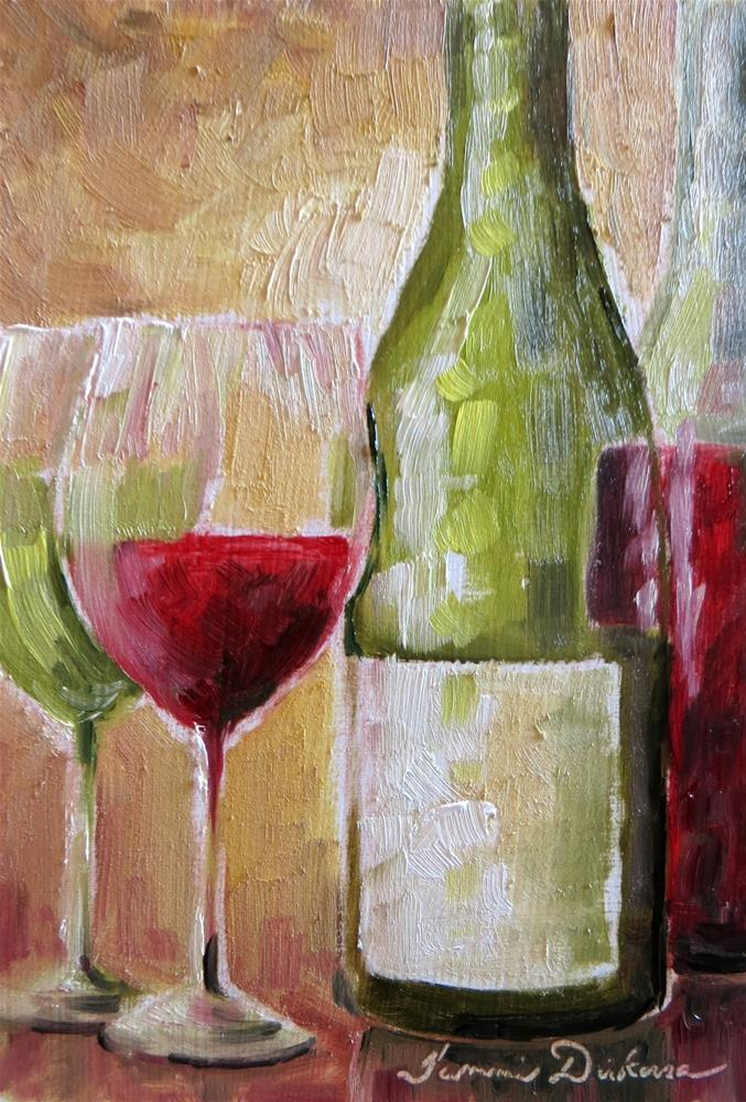 """Time for Wine"" original fine art by Tammie Dickerson"