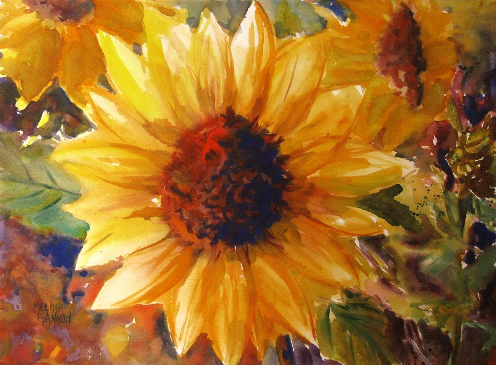 """Sunflowers in Yellow"" original fine art by Melissa Gannon"