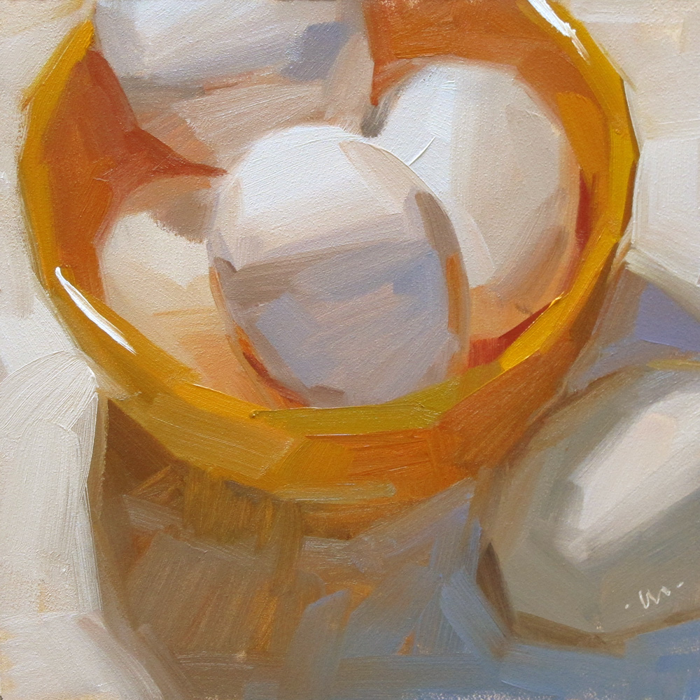 """Bowl-Egged"" original fine art by Carol Marine"