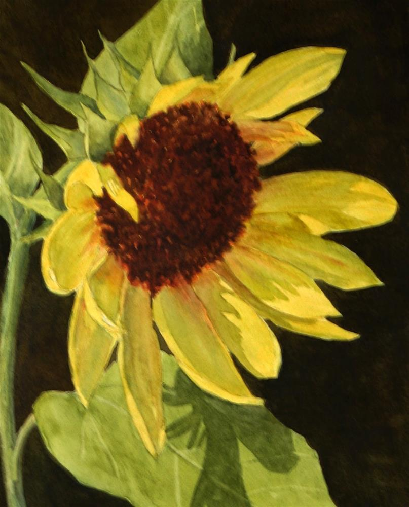 """Sunflower Smile"" original fine art by Vikki Bouffard"