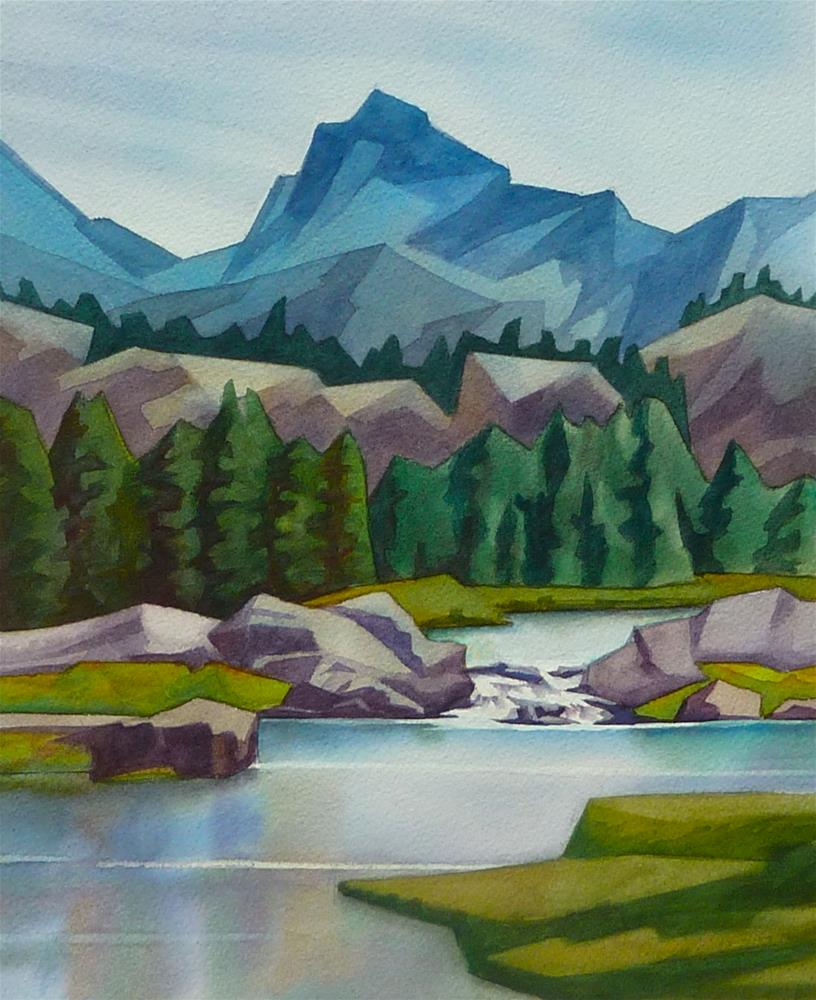 """Sawtooth Mountains"" original fine art by Mark Allison"