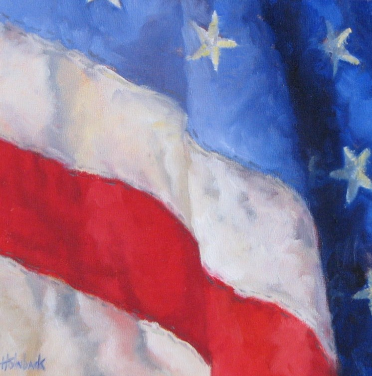 """The 4th of July"" original fine art by Pam Holnback"