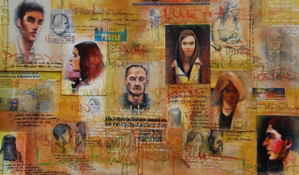 """LONDONERS I"" original fine art by Adebanji Alade"