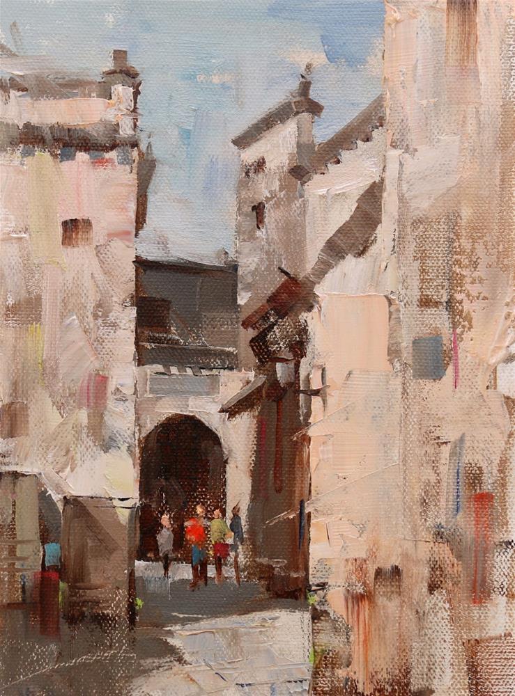 """Plein Air at Pingshan 2"" original fine art by Qiang Huang"