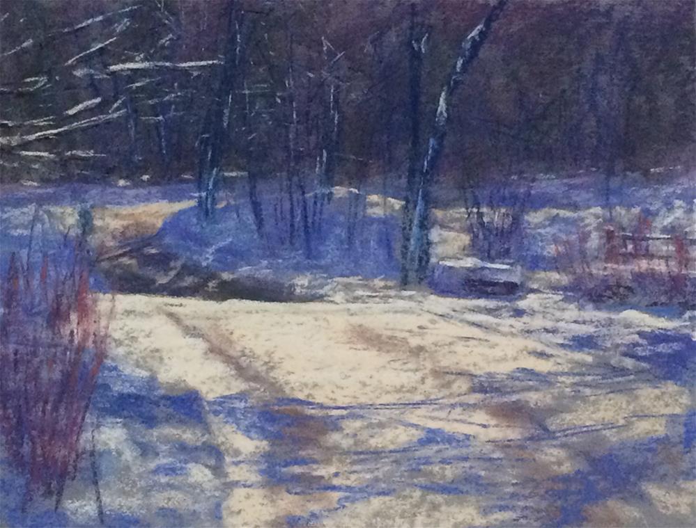 """""""Golden Run, Bolton"""" original fine art by Linee Baird"""