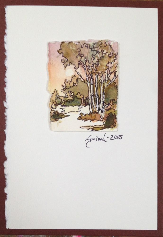 """Miniature Landscape #19"" original fine art by Sue Dion"