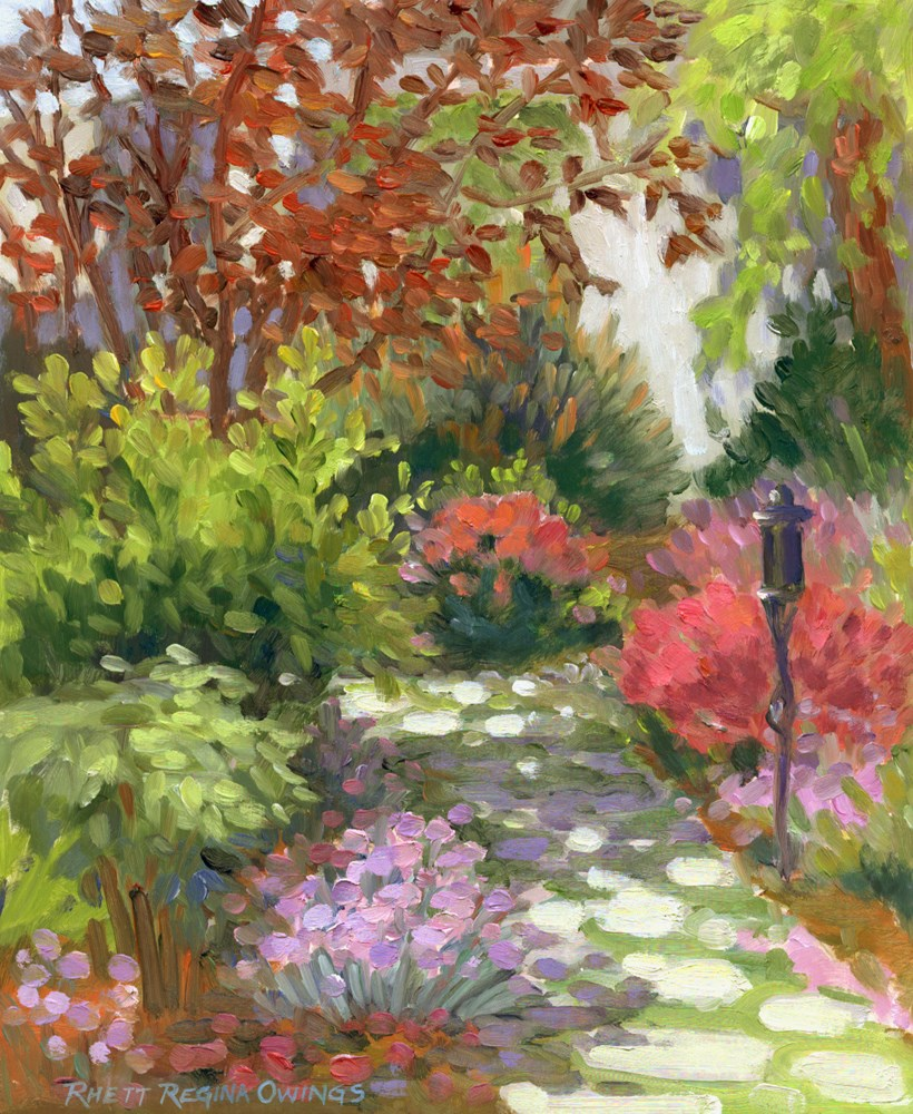 """Garden Path"" original fine art by Rhett Regina Owings"