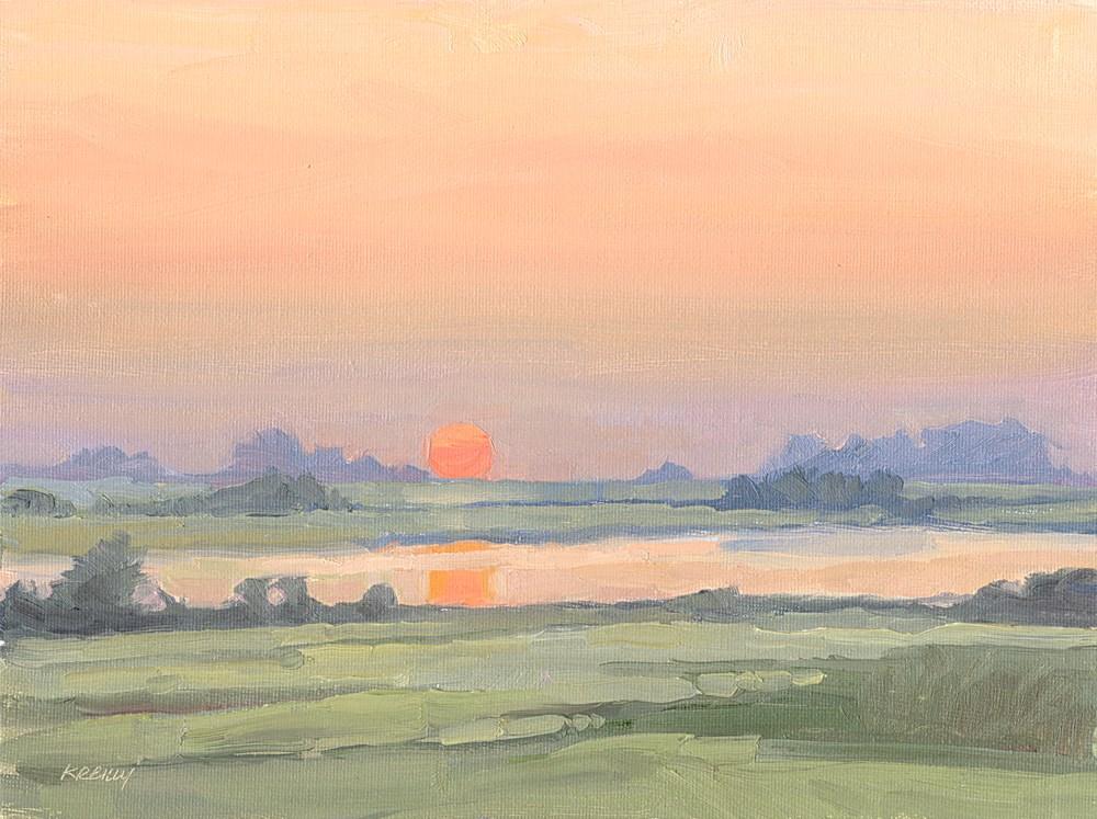 """Red Sunrise"" original fine art by Kath Reilly"