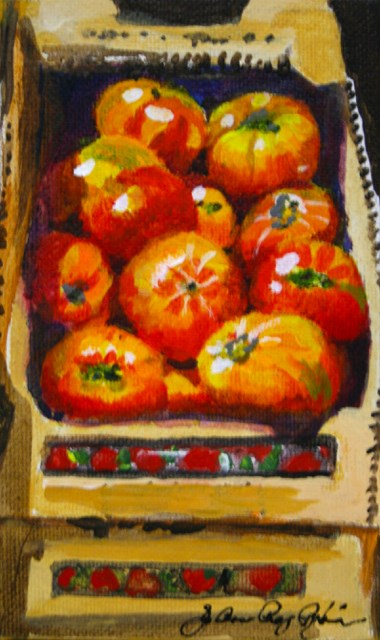 """Box of Heirlooms"" original fine art by JoAnne Perez Robinson"