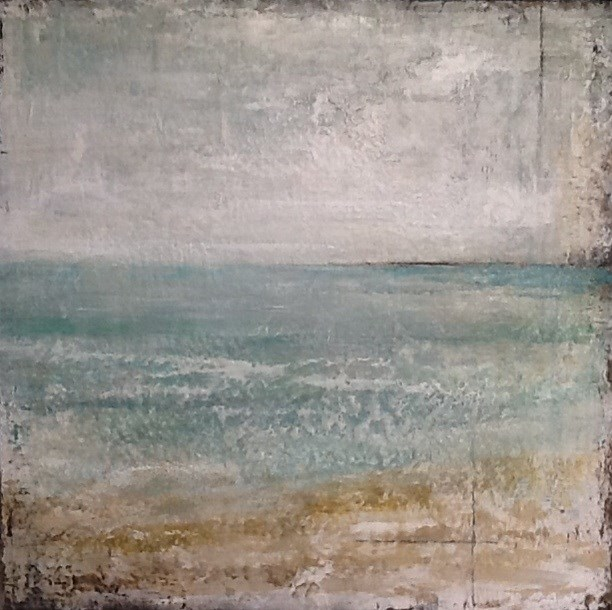 """Sea of Green I"" original fine art by Maureen Bowie"