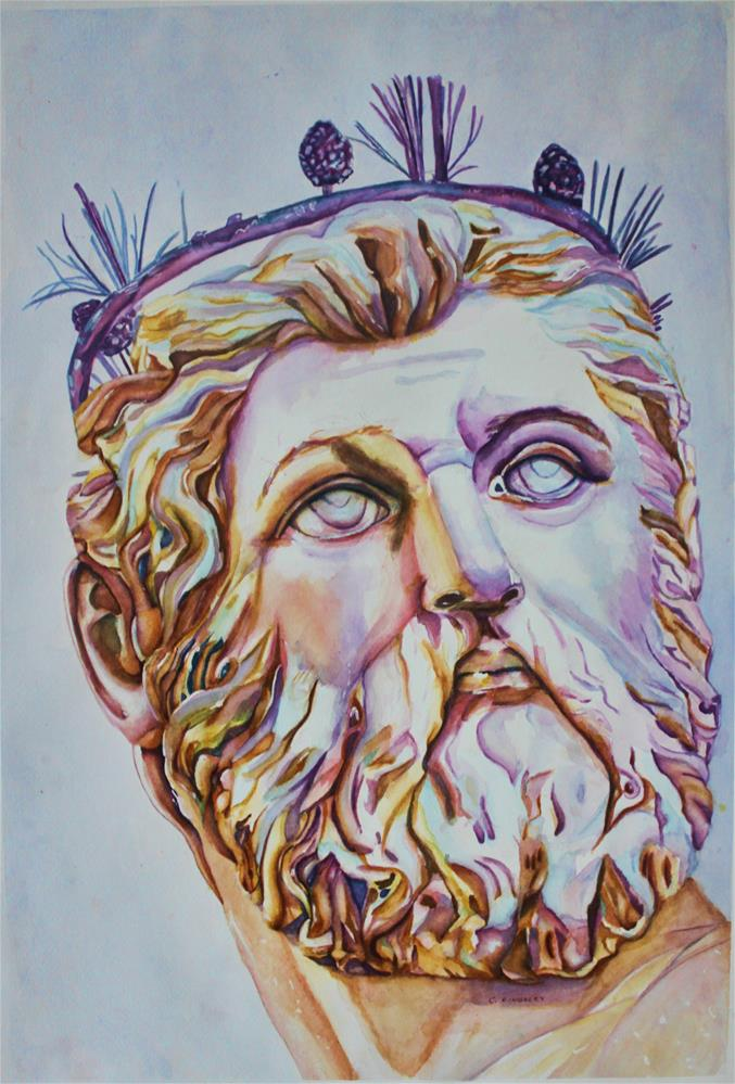 """Neptune - Florence, Italy"" original fine art by Christiane Kingsley"