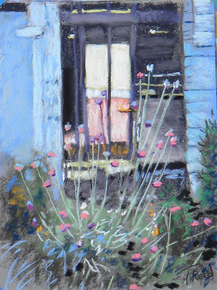"""""""Thru the door"""" original fine art by Toby Reid"""
