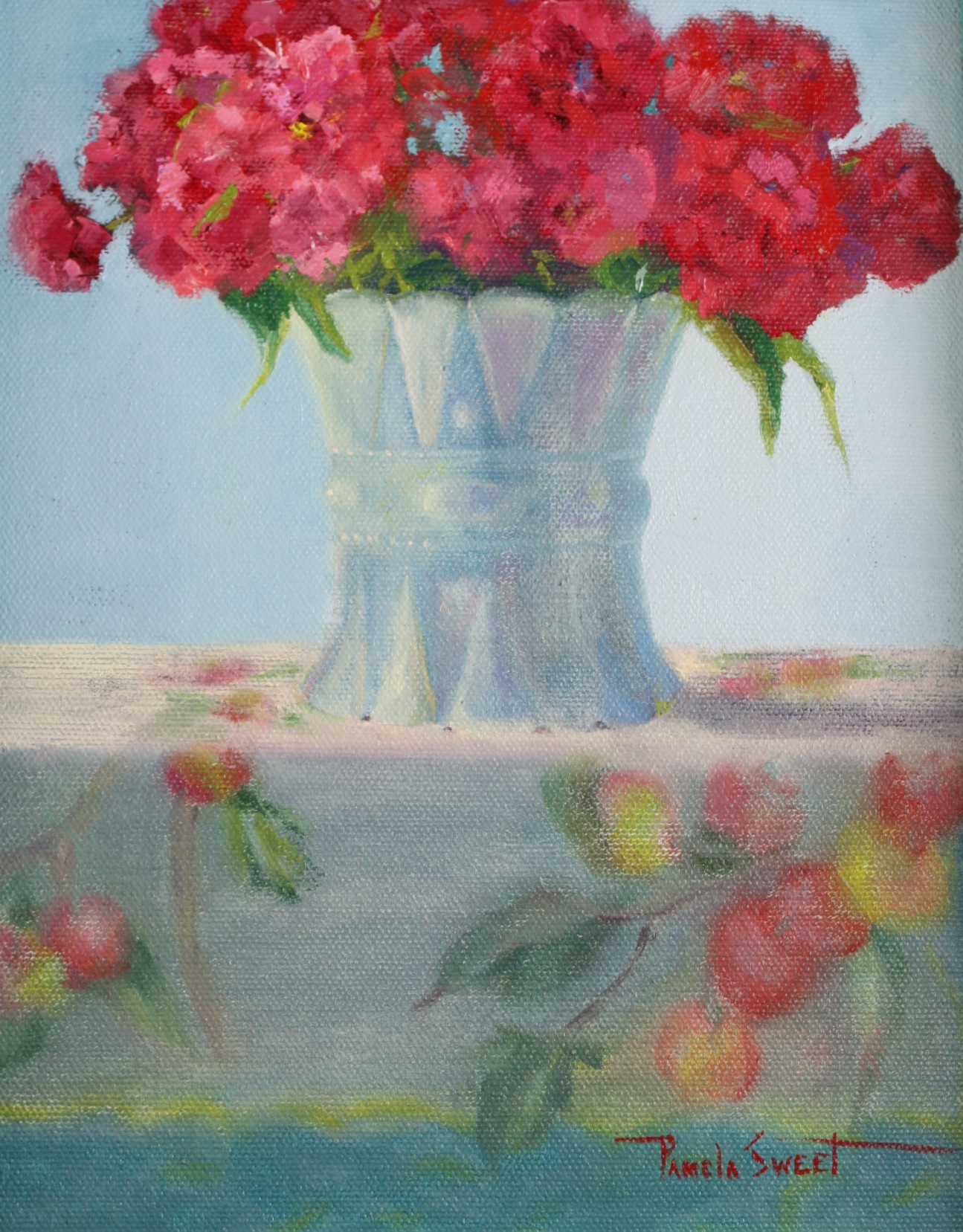 """Sweet William"" original fine art by Pamela Sweet"