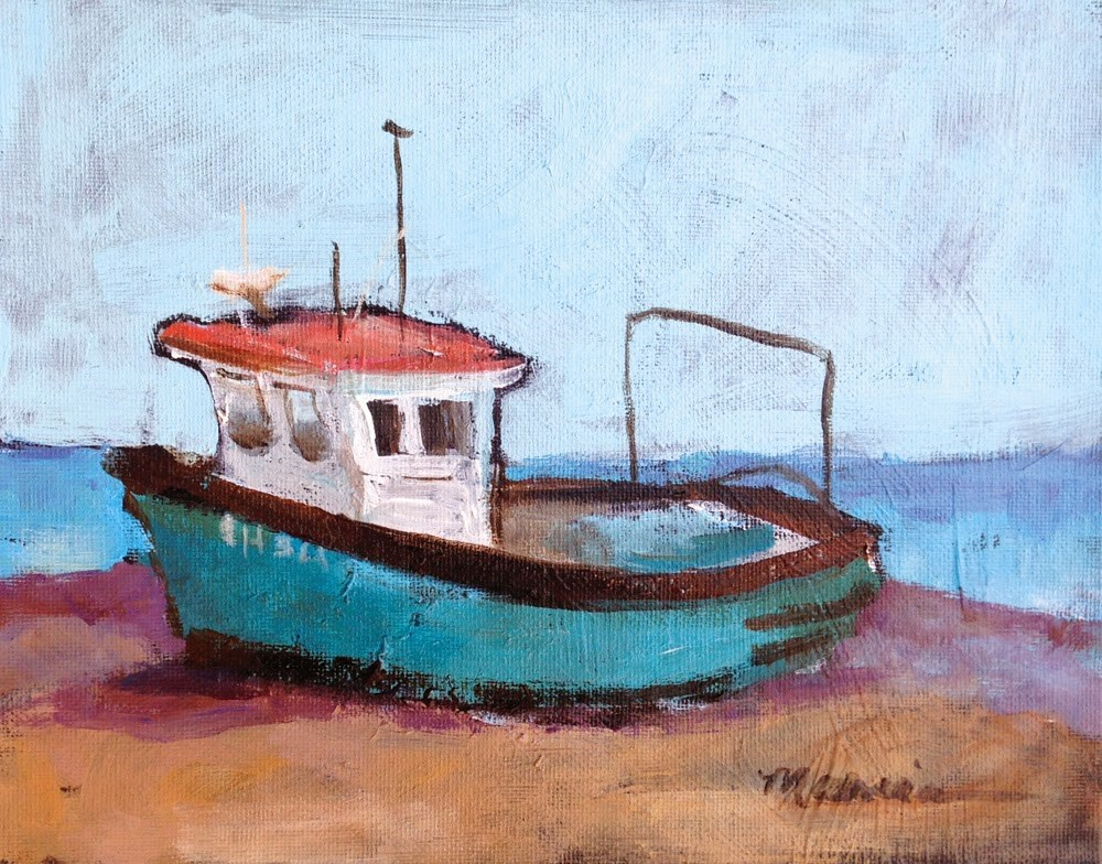 """The Old Boat"" original fine art by Marcia Hodges"