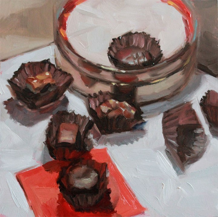 """""""Love Morsels"""" original fine art by Nealy May Riley"""