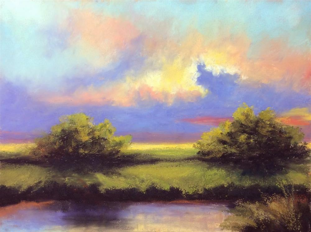 """Marsh Sunset"" original fine art by Marti Walker"
