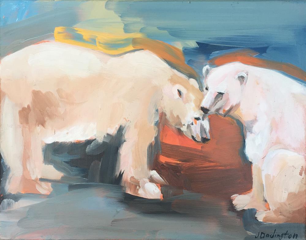 """Nuzzle"" original fine art by Jessie Dodington"